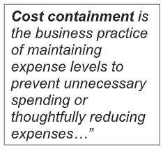Definition of cost containment