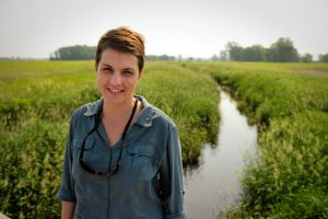 June 7, 2011; Biological Sciences professor Jennifer Tank at a stream ecology field research site in Kosciusko County, Indiana...Photo by Matt Cashore/University of Notre Dame
